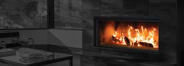 large selection of wood fireplaces