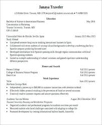 Study Abroad Resume Sample Study Abroad Resume Cialisph Info