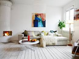 Modern Living Room With Modular Sectional Sofa Sleeper And Coffee Table  Also Painted Hardwood Floors