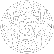 Pattern Coloring Pages From Geometric Art