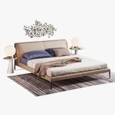 Natuzzi Bedroom Furniture Natuzzi Diamante Bed Set 3d Model Max Obj Fbx Mtl Mat Cgtradercom