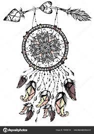 Ilustrace Lapač Snů šipkou Indiánské Plakát Tetování Design Stock