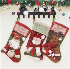 Christmas tree decorations children's large Christmas socks shopping malls  window ornaments Christmas decorations gifts Bags 2018 wholesale