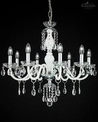 white crystal chandelier combined with chrome finish decorated with swarovski spectra crystal ts