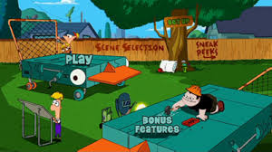 surprises too as well as the usual options use your remote to pick out some of the character and background details for instance selecting phineas