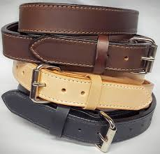 2 ply heavy duty 1 5 inch wide 100 solid leather belt made in the usa