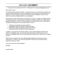 Gallery Of Admissions Counselor Cover Letters To Download Admissions