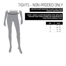 Size Chart Womens Tights Century Martial Arts