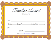 Best Teacher Certificate Templates Free Printable Teaching Certificates Download Them Or Print