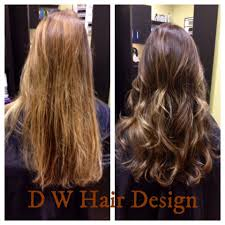 Hair Designs By Gail Before After Highlight Lowlights Darker Base Gloss