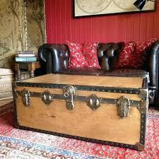 Vintage trunk coffee table Ottoman Old Trunks Coffee Tables Vintage Trunks And Chests Trunk Coffee Table Vintage Steamer Trunk Storage Trunk Netbootinfo Old Trunks Coffee Tables Vintage Trunks And Chests Trunk Coffee