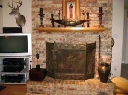red brick fireplace makeover fireplace before remodel red brick fireplace makeover ideas