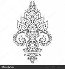 тату в индийском стиле хна татуировки цветка шаблон в индийском