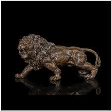 abstractionism cattle resin sculpture home decor arts crafts copper brass art gifts office decor fierce lion sculpture