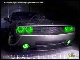 oracle 08 14 dodge challenger w pro plasma halo rings head fog bulbs