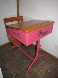 antique child s school desk painted and stenciled super cute and easily customizable could do blue