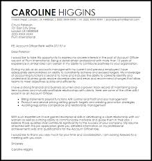 Cover Letter For Cvs Impressive Account Officer Cover Letter Sample Cover Letter Templates Examples