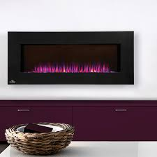 napoleon azure 42 inch linear wall mount electric fireplace display only no heat