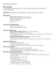Resume Registered Nurse Template Sidemcicek Com