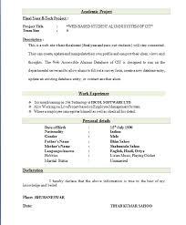 best resume format for freshers best format for resumes