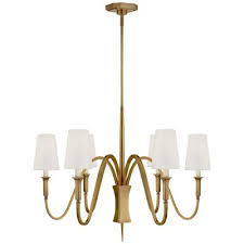visual comfort tob 5270hab l six light chandelier hand rubbed antique