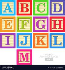 alphabet blocks wooden alphabet blocks vector image large alphabet blocks wooden