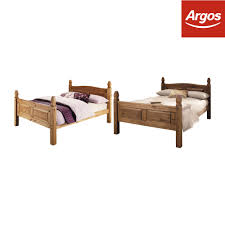 details about argos home puerto rico double wooden bed frame dark or light