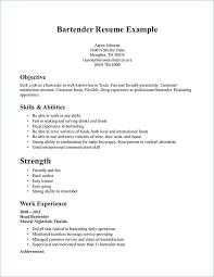 Bartender Resume Job Description Extraordinary Example Of Bartender Resume Newest Examples Template Download Sample