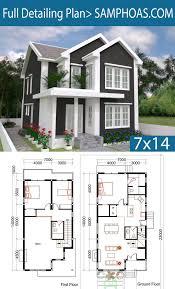 3 Bedrooms Home Plan 7x14m - SamPhoas Plansearch | House plans, Sims house  plans, Three bedroom house plan