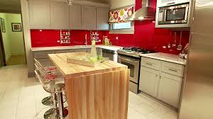 kitchen color ideas red. Kitchen Color Ideas With Cherry Cabinets Open Storage White Towel Bar Dark Pillars Red