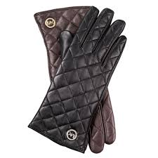 Lyst - Michael kors Quilted Leather Gloves in Black & Gallery Adamdwight.com