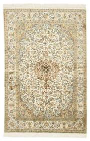 kashmir pure silk rug oriental rug 6 2 x4 1 india hand knotted classic traditional area rugs by nain trading llc