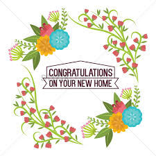 Congratulations On Your New Home Vector Image 1797501