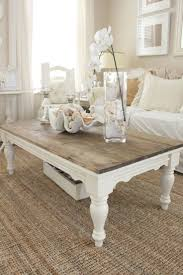 Shabby Chic White Coffee Table Enchanting Living Room Decor With White Accent Featuring Sofa With