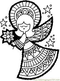 Small Picture Christmas Angel Coloring Page 09 Coloring Page Free Angel