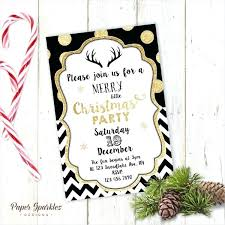 Company Christmas Party Invite Template Gold Party Invitation Template Microsoft Office Christmas Templates