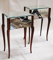 art deco mirrored furniture. art deco mirrored bedside tables furniture