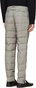 Moncler Gamme Bleu Grey Quilted Wool Trousers   Men pants ... & Moncler Gamme Bleu Grey Quilted Wool Trousers Adamdwight.com