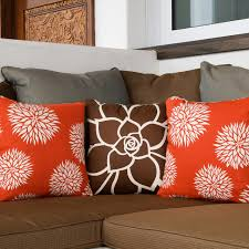 contemporary sofa with awesome throw