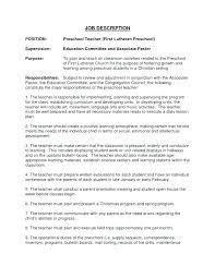 Preschool Teacher Resume Examples Kindergarten Teacher Resume Sample