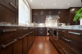 dark wood modern kitchen cabinets. Modern Kitchen Cabinet Pulls Transitional With Ceiling Lighting Dark Wood. Image By: Old World Kitchens Custom Cabinets Wood C