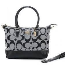 Coach Logo In Monogram Medium Grey Totes BOA Cheap Coach Handbags, Tote  Handbags, Handbags