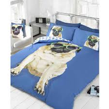 pug design duvet cover sets in single and double kids  adult