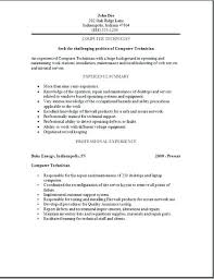 Cover Letter For Technician Job Cover Letter For Computer Repair Technician Job Description Of A