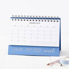 personalised every day 2018 desk calendar