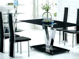 dining tables black glass dining table and chairs 6 chair round set black glass dining table