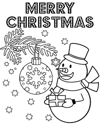 It is big enough so that preschool kids can color it with a crayon. Print Merry Christmas Greeting Card With Snowman