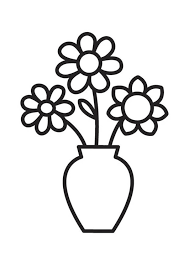 Disegno Da Colorare Vaso Con Fiori Cat 18334 Images