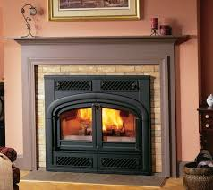 wood burning fireplace glass doors open or closed home design ideas