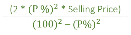 Profit Loss Formula Loss When Two Items Are Sold At Same Price And Same